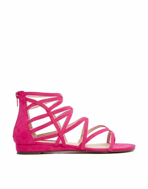 Sandały Asos London Rebel różowe sandałki 38