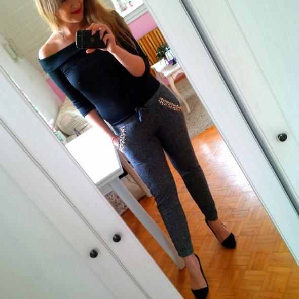 Mój styl Szare spodnie