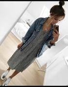 Nowa szara sukienka z rozcięciami Mango XS...
