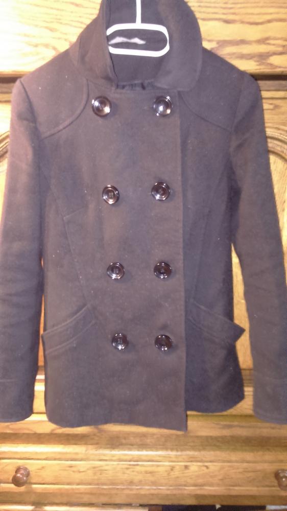 Płaszcz krótki zima jesień 36 guziki
