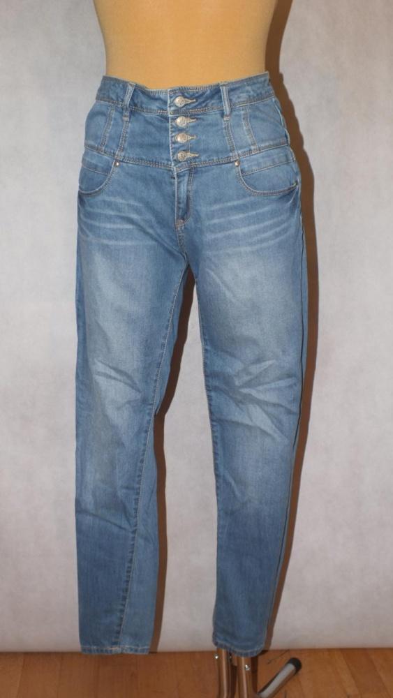 Spodnie Rurki z wysokim stanem YES 38 10 M