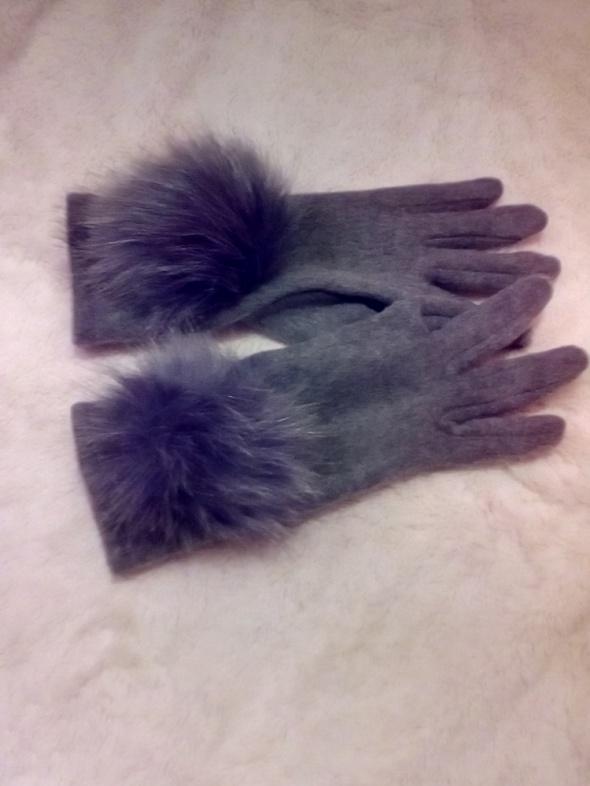 Rękawiczki Rękawiczki szare