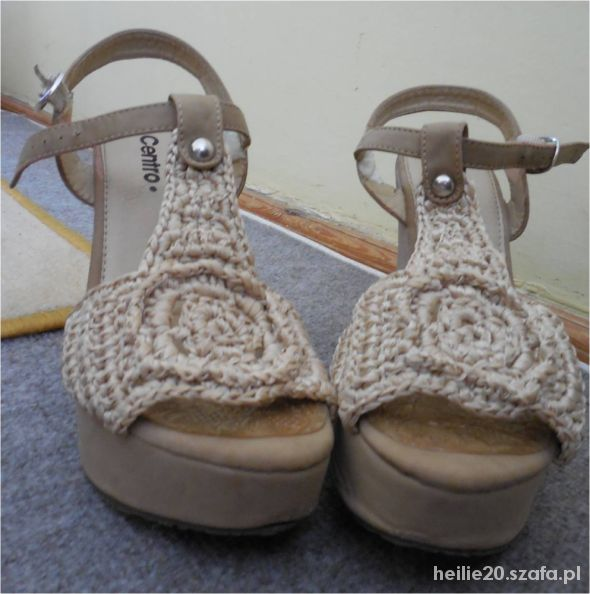 Centro sandały 36 nude espadryle...