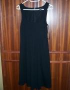 MANGO SUIT wygodna Sukienka S 36 czarna bawełna