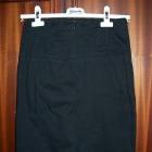 ATMOSPHERE Spódnica za kolano S 36 czarna bawełna