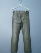 szare Spodnie rurki dżinsowe