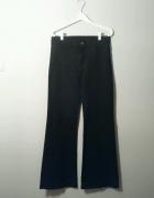 czarne Spodnie dzwony H&M