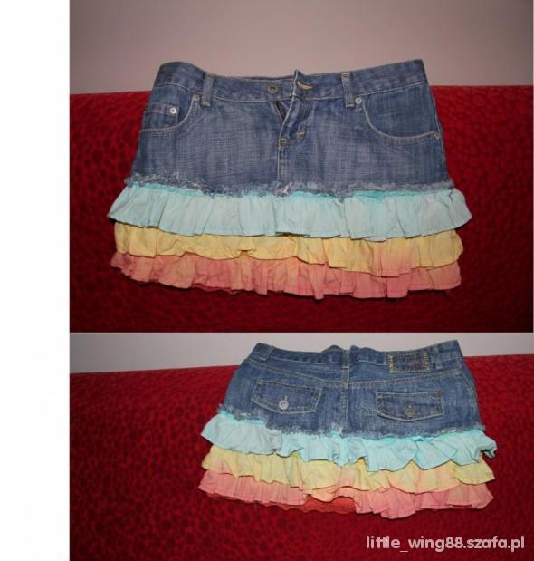 Jeansowa z falbankami...