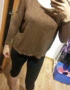 brązowy pozłacany sweter rozmiar S Reserved