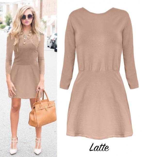 dee1d6b6ff Piękna sukienka Latte M w Suknie i sukienki - Szafa.pl