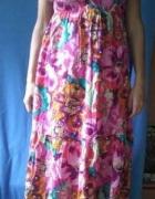 Sukienka długa maxi kwiaty xl 42 evie boho hippie...