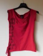 Bench czerwona koszulka shirt XS 34 36...