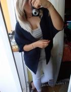 Narzutka sweter wełniany oversize