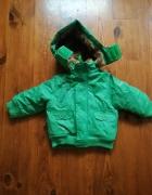 zielona kurtka zimowa rozm 86...