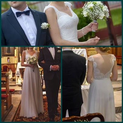 Piękna skromna suknia śluna...