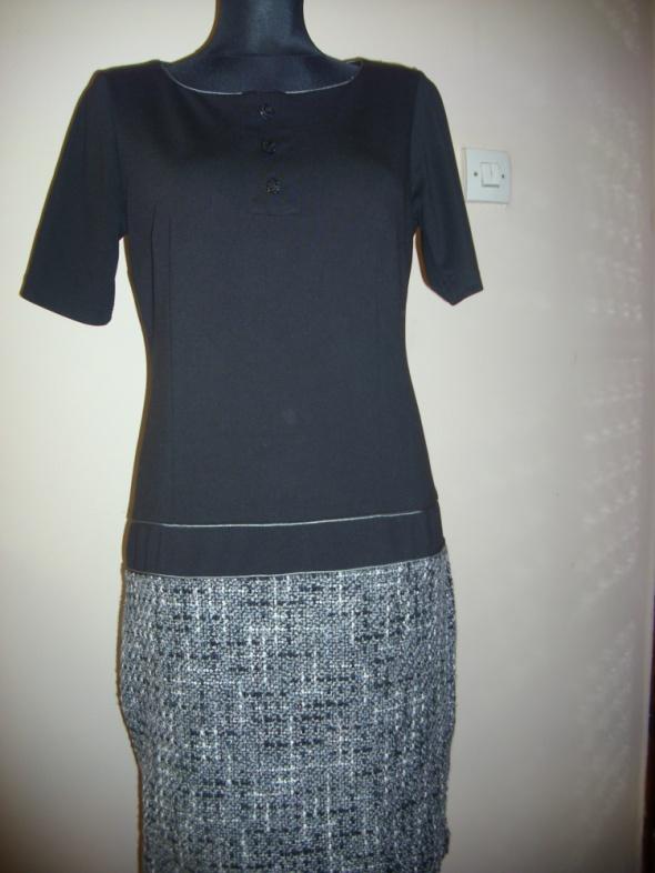 Suknie i sukienki czarno szara sukienka M na L