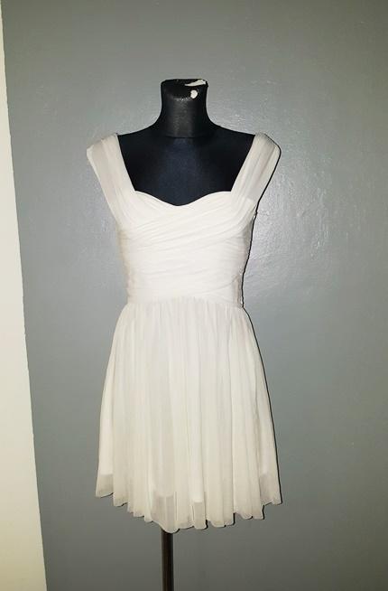 Topshop sukienka S M kremowa zamek tiul