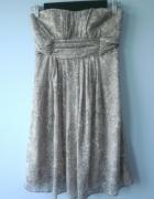 New Look sukienka gorsetowa koronka mgiełka szyfon...