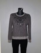 Abercrombie & Fitch bluza 36 S zdobiona wzory...