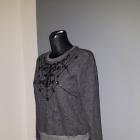 Abercrombie & Fitch bluza 36 S zdobiona wzory