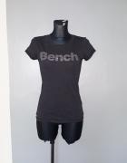 Bench tshirt 36 S szary melanż aplikacja napis