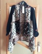 sweter w azteckie wzory narzutka stylowy