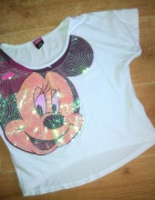 Disney top crop 34 XS mickey mouse krótka bluzka b...