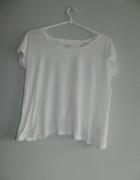 biała bluzka z odkrytymi plecami NEW LOOK