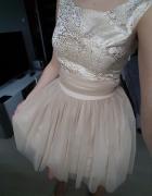 Sukienka złota rozkloszowana 34 36