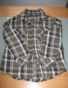 koszula w krate 5 10 15 dla chłopca 110cm