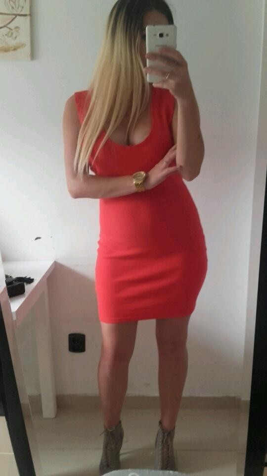 365193c9d6 czerwona dopasowana sukienka XL w Suknie i sukienki - Szafa.pl