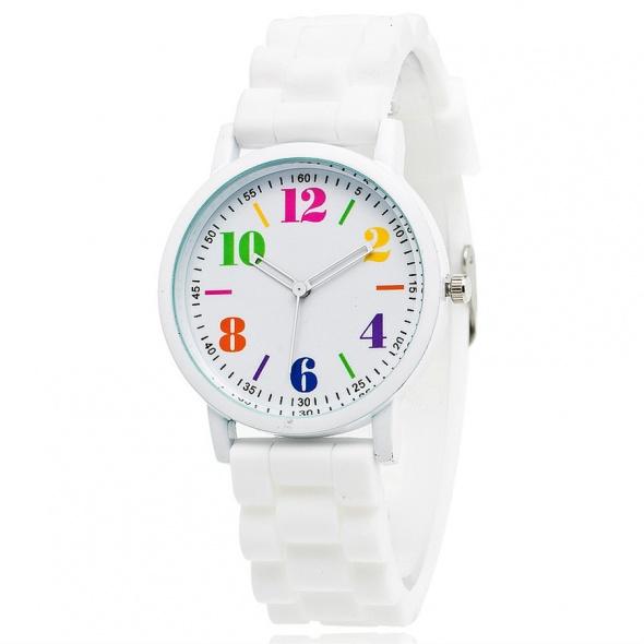 Zegarki Zegarek damski sportowy biały