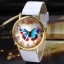 Zegarek damski motyl biały pasek