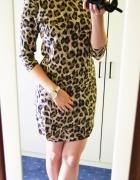 Elegancka sukienka w panterkę