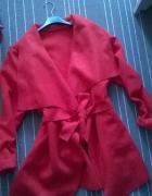 jesienny czerwony plaszcz s m L