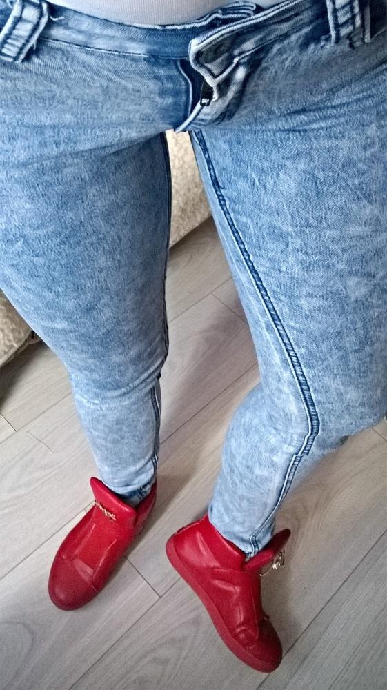 Spodnie rurki jeans marmurki skiny s