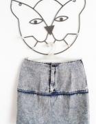 jeansowa mini spódnica cieniowana grunge...