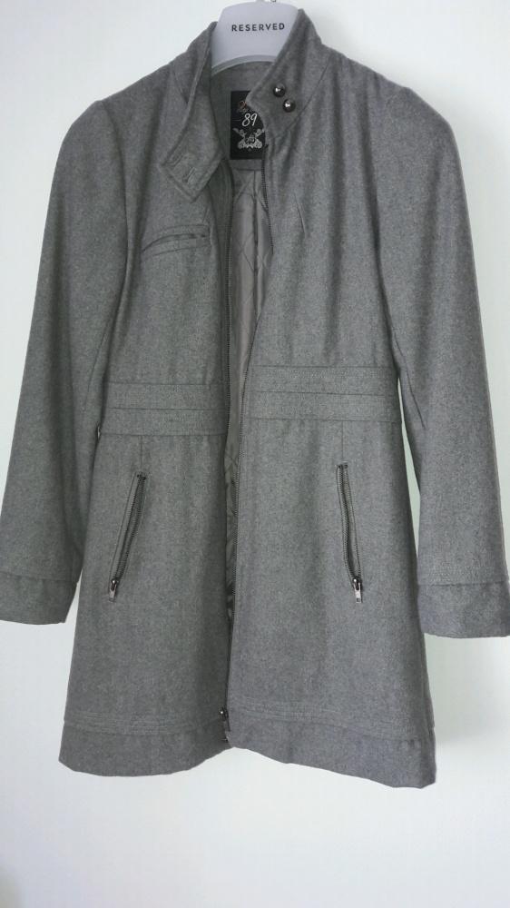 Odzież wierzchnia szary płaszczyk hause