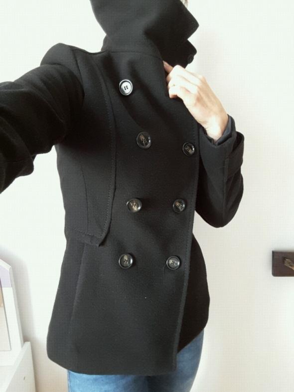 Odzież wierzchnia czarny płaszczyk H&M