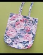 torba na zakupy floral kwiatowa
