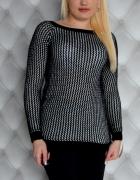 Sweterek czarno biały nowy z metka
