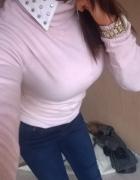 sweterek pudrowy róż hm