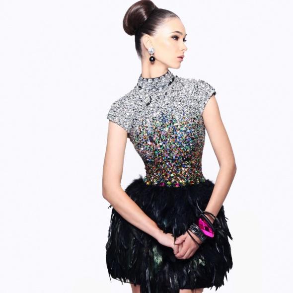 Suknie i sukienki Sherri hill pióra