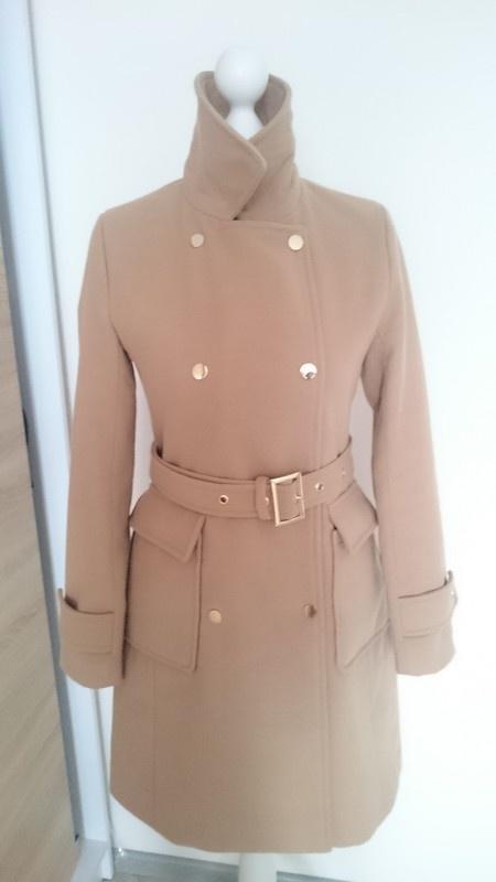 Odzież wierzchnia Płaszcz nude jak nowy Reserved S