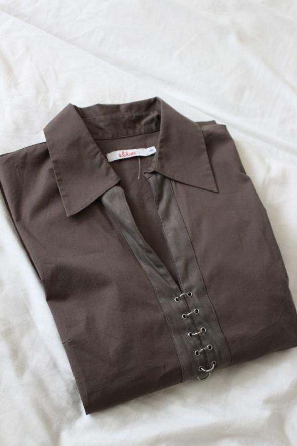 Bluzki brązowa bluzka s oliver