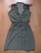 sukienka military kopertowa 36