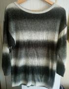 Sweter H&M szary nietoperz 36 S