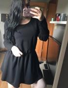 Sukienka mała czarna włoska nowa 38 oversize