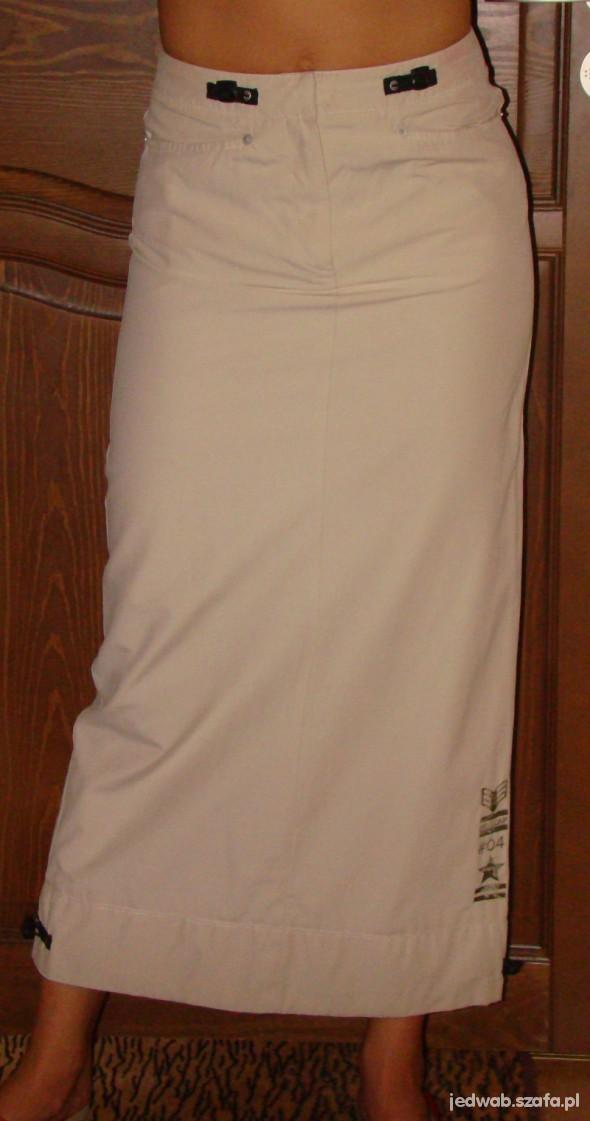 Spódnice beżowa długa spódnica