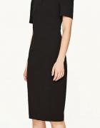 ZARA Asymetryczna sukienka z odkrytym ramieniem